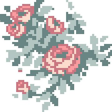 Pixel Floral Bunch by theCatghost