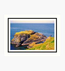 Spectacular glimpse of Carrick Island Art Print