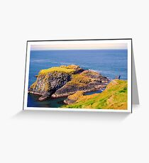 Spectacular glimpse of Carrick Island Greeting Card
