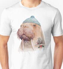 Tätowiertes Walross Unisex T-Shirt