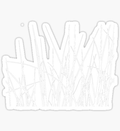 Water grass (white) (T-Shirt) Sticker