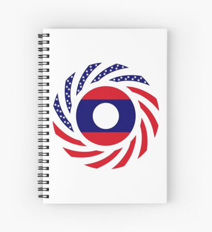 Lao American Multinational Patriot Flag Series Spiral Notebook