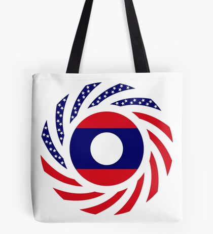 Lao American Multinational Patriot Flag Series Tote Bag