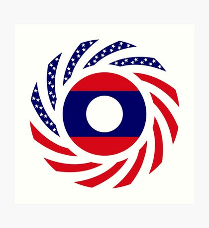 Lao American Multinational Patriot Flag Series Art Print
