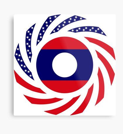 Lao American Multinational Patriot Flag Series Metal Print