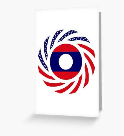 Lao American Multinational Patriot Flag Series Greeting Card