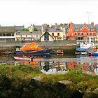Boat Reflections - Stornoway Marina by MidnightMelody