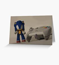 Sonic & Dreamcast Greeting Card