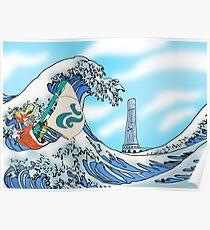 Zelda: WindWaker - Great Wave Poster