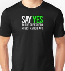 Civil War - Say Yes - White Clean T-Shirt