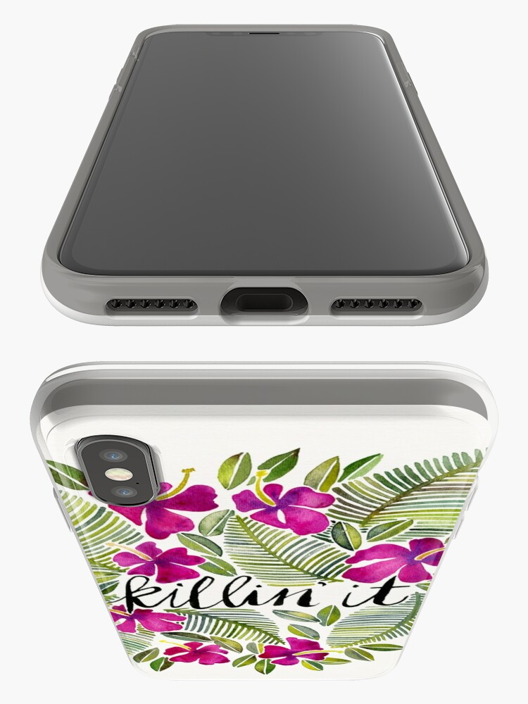 Alternate view of Killin' It – Tropical Pink iPhone Case & Cover
