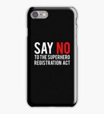Civil War - Say No - White Clean iPhone Case/Skin