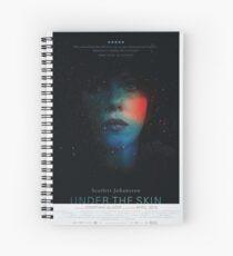 Under The Skin Poster Spiral Notebook