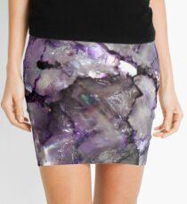 Purple crackle glass Mini Skirt
