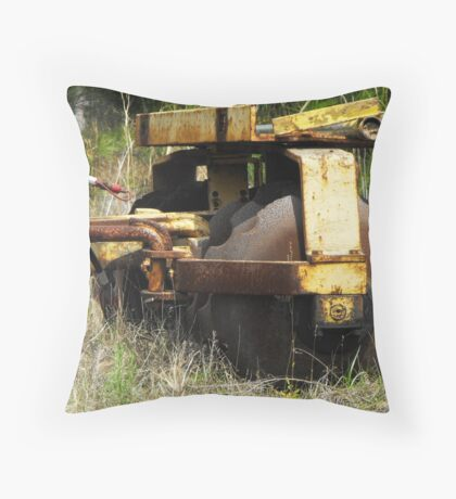 blood on the plow Throw Pillow