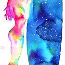 Regenbogen trifft Galaxy von Aurora Gritti