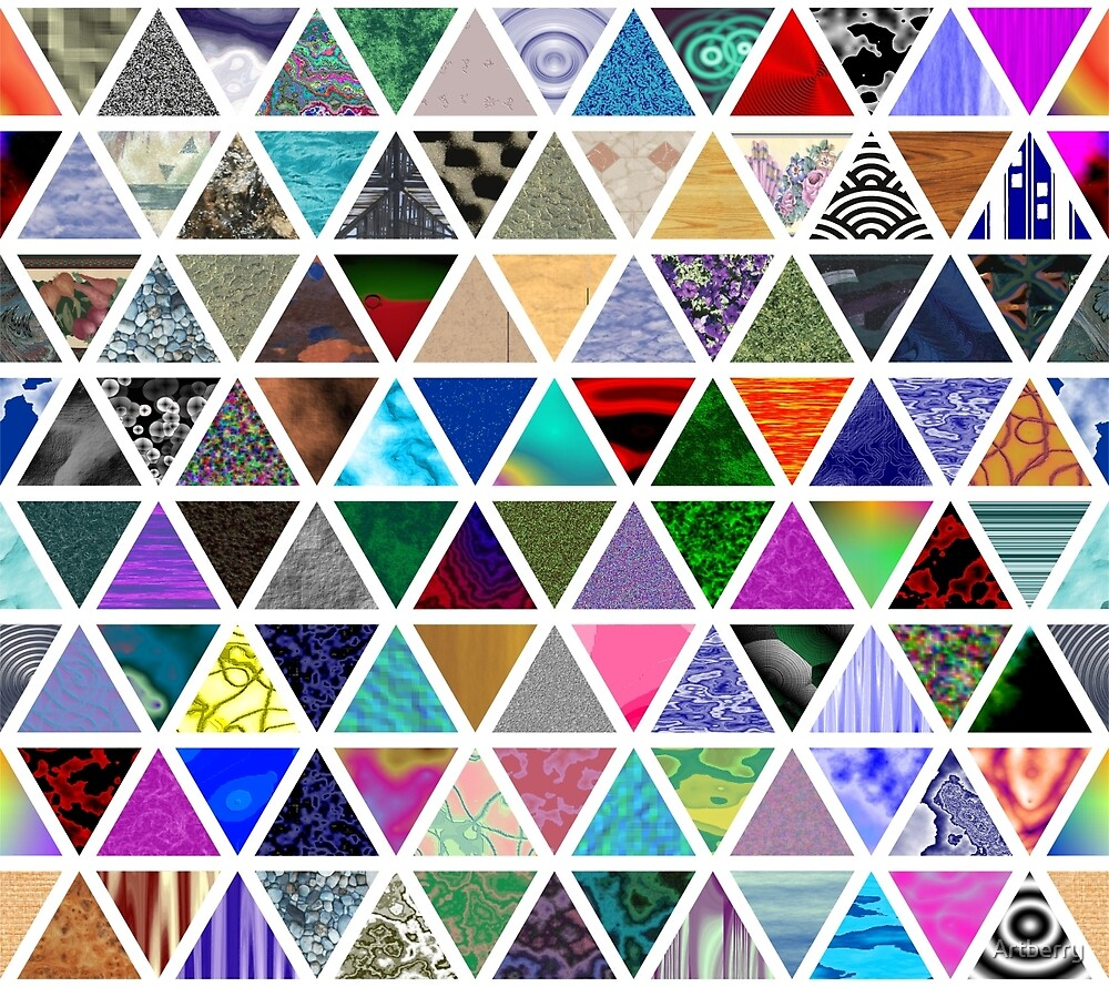 Triangles by Artberry