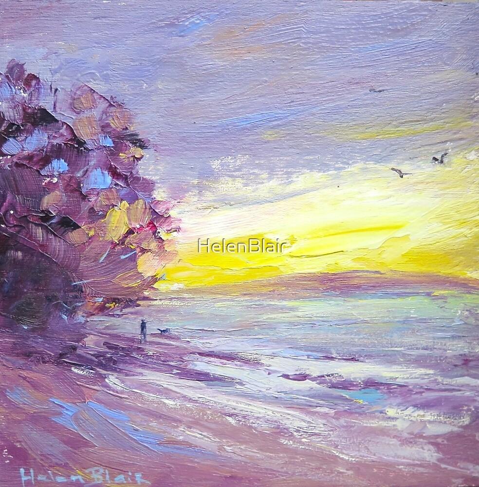 Sunset Beach Walk by HelenBlair