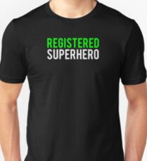 Civil War - Registered Superhero - White Clean T-Shirt