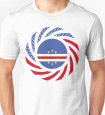 Cape Verdean American Multinational Patriot Flag Series 1.0 Slim Fit T-Shirt