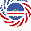Cape Verdean American Multinational Patriot Flag Series 1.0 by Carbon-Fibre Media