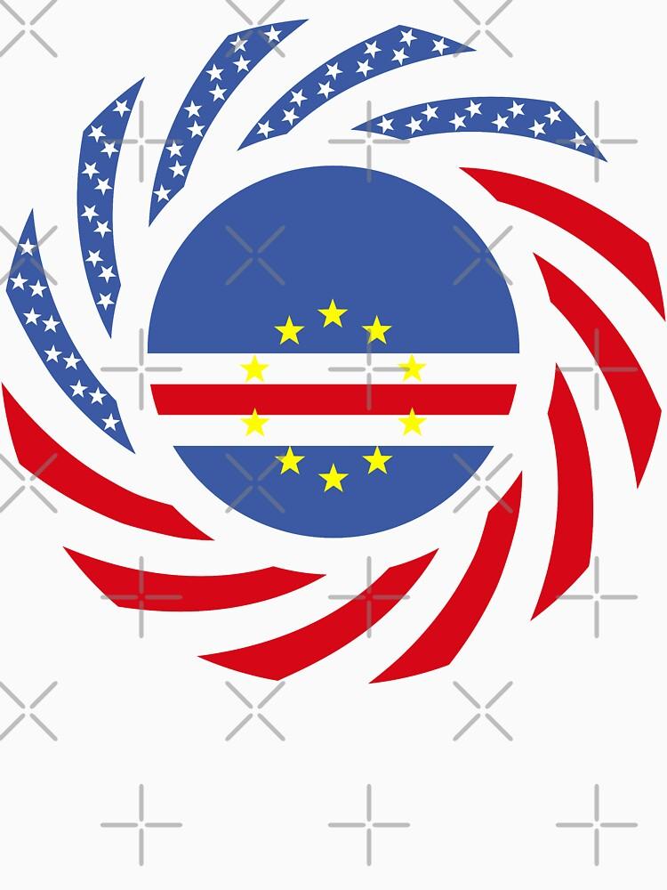Cape Verdean American Multinational Patriot Flag Series 1.0 by carbonfibreme