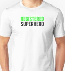 Civil War - Registered Superhero - Black Clean T-Shirt