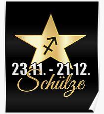 Schütze Sternzeichen Tierkreiszeichen Geschenk Poster