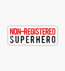Civil War - Non-Registered Superhero - Black Dirty Sticker