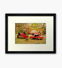 Japanese Picknick at Kyoto Framed Print