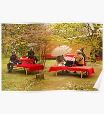 Japanese Picknick at Kyoto Poster