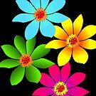 bunte Blumen, Blüten, farbenfroher Blumenstrauß von rhnaturestyles