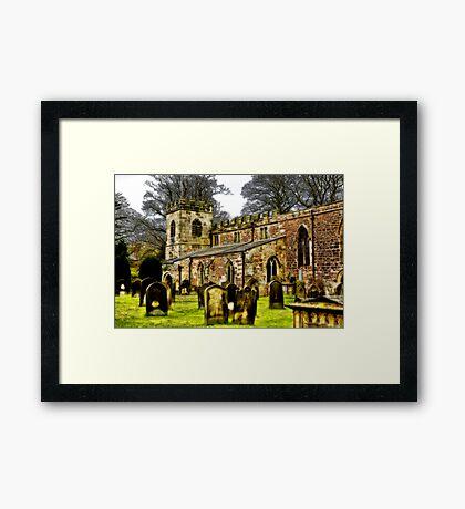 St Peters Church - Croft-on-Tees . Framed Print