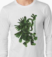 Camiseta de manga larga Dios hastiado- Quetzalcóatl garabateó
