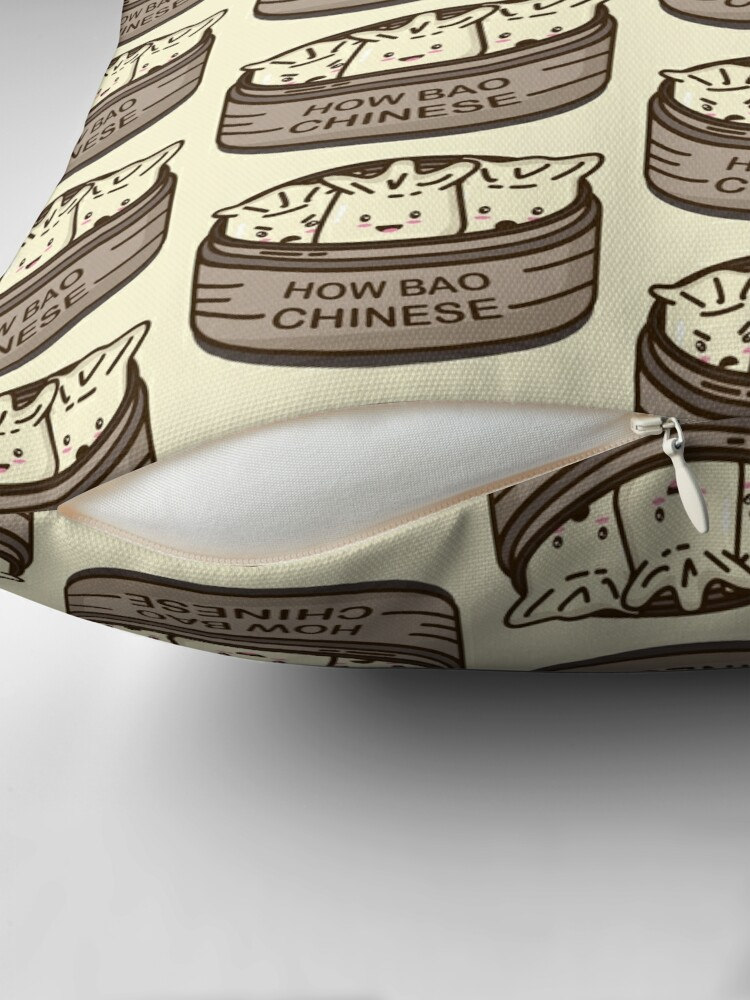 Alternate view of How Bao Chinese? Throw Pillow