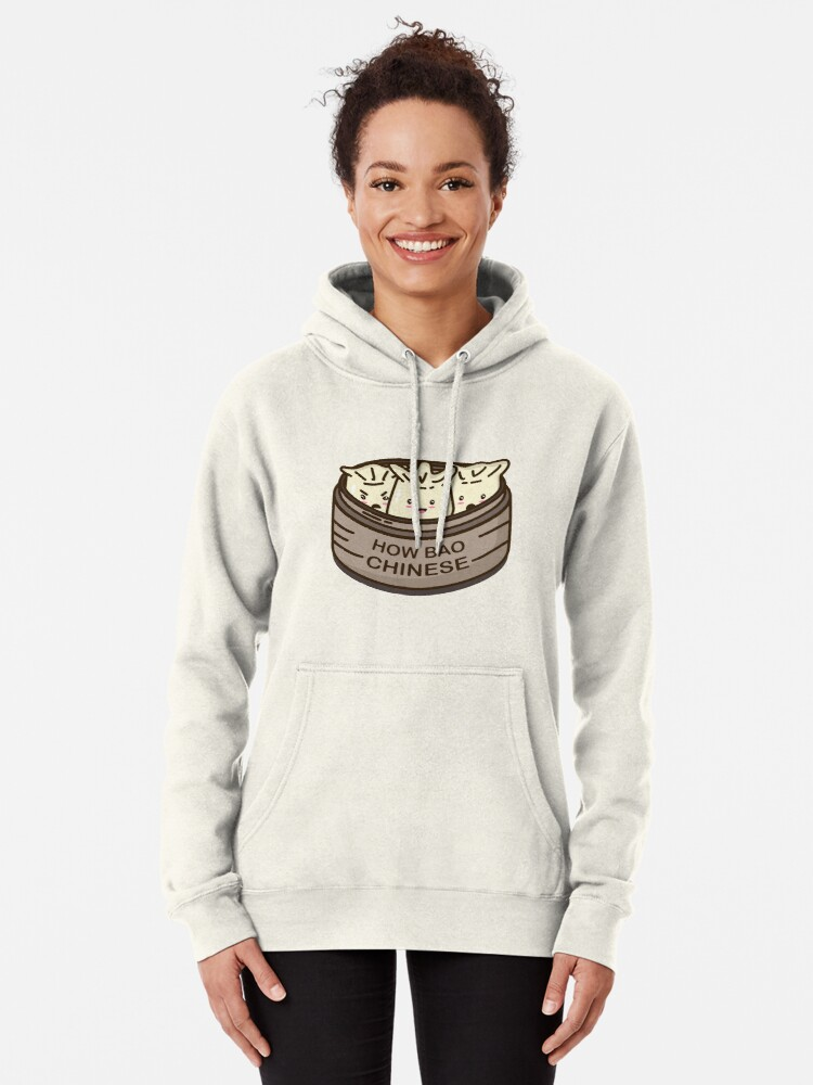 Alternate view of How Bao Chinese? Pullover Hoodie