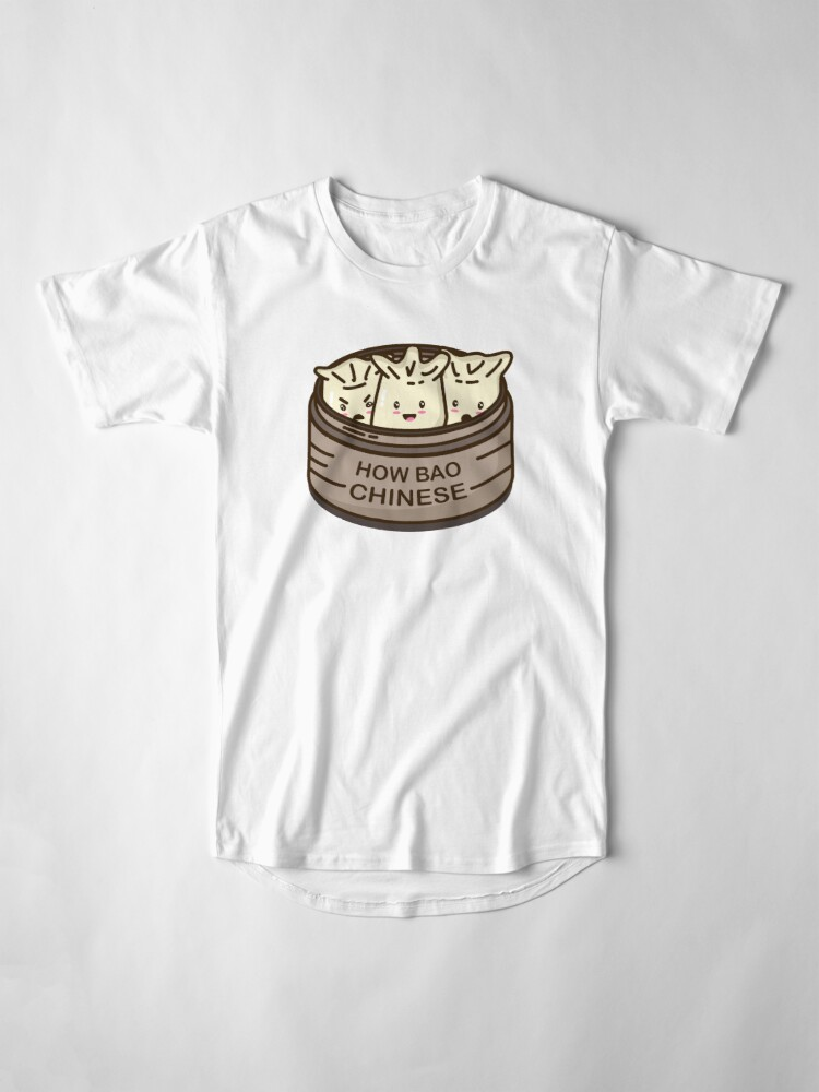 Alternate view of How Bao Chinese? Long T-Shirt