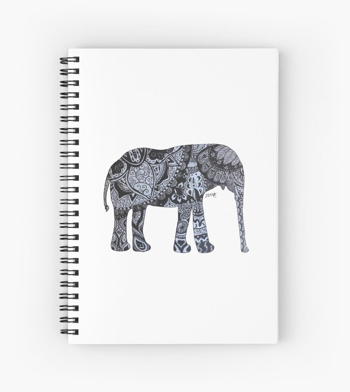 Zentangle Elephant by jessidraws
