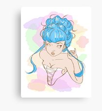 Corset girl Canvas Print