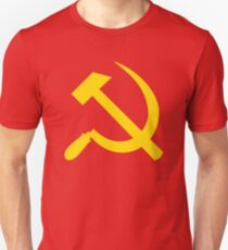 Communism - Soviet Union - Hammer Sickle Star Unisex T-Shirt