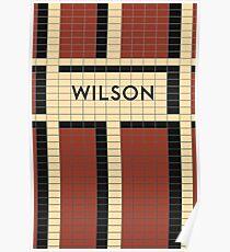 WILSON Subway Station Poster