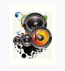 Altavoz música  Art Print