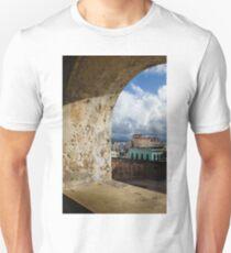 Caribbean Colors of San Juan, Puerto Rico From a Window of San Cristobal Castle Unisex T-Shirt