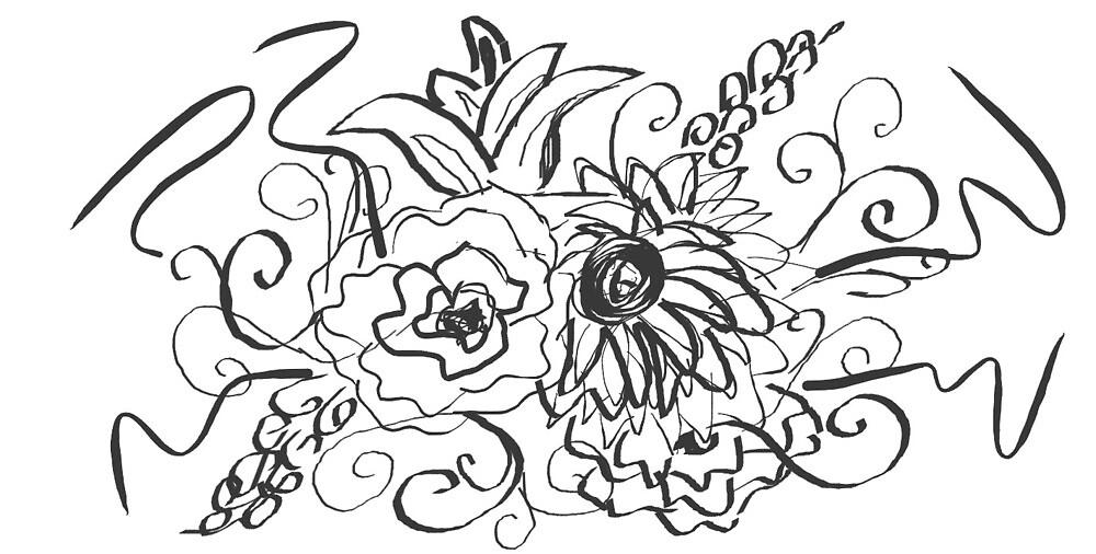 Floral Scribble by emileymorton