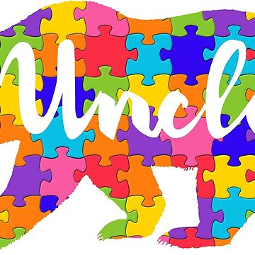 Uncle Bear - Autism Awareness by peaktee