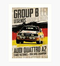 Group B Legends - Audi Quattro A2 Art Print