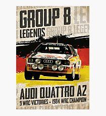 Gruppe B Legenden - Audi Quattro A2 Fotodruck