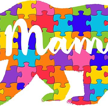 Mama Bear - Autism Awareness by peaktee