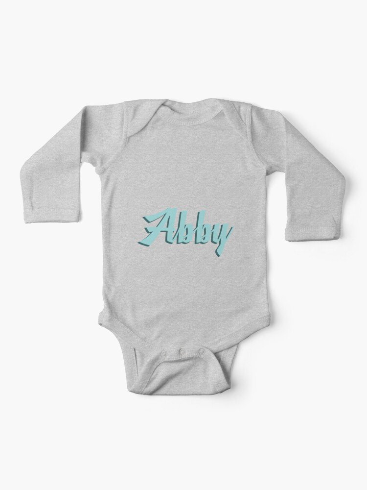 Abby in Blue (Girls Name)   Baby One-Piece