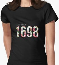 Waltz Like It's 1698 - Pink Floral Womens Fitted T-Shirt